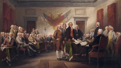 La firma de la Declaración de la Independencia
