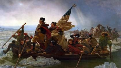 Washington cruzando el río Delaware